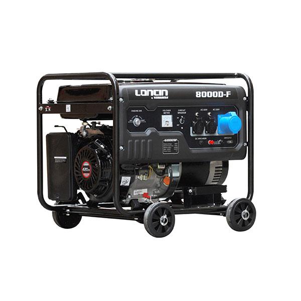 GENERADOR GASOLINA P/ELECTRICA 6.5K LONCIN LC 8000 DC